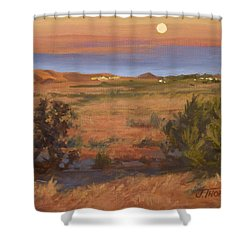 Twilight Moonrise, Valyermo Shower Curtain
