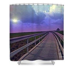 Twilight Nature Walk Shower Curtain by Ella Kaye Dickey