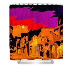 Twilight On The Plaza Santa Fe Shower Curtain
