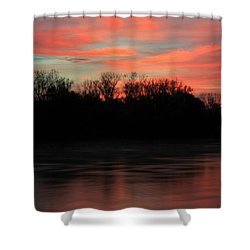 Shower Curtain featuring the photograph Twilight On The River by Chris Berry