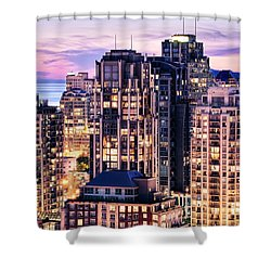 Twilight Over English Bay Vancouver Shower Curtain