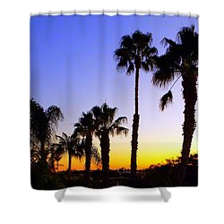 Twilight Palms Shower Curtain