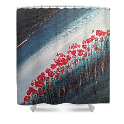 Twilight Poppies Shower Curtain