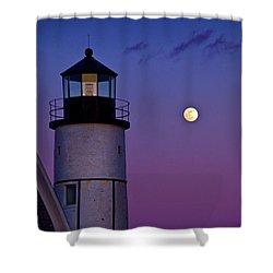 Twilight At Sandy Neck Lighthouse Shower Curtain