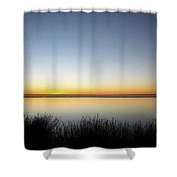 Twilight Stillness Down By The Beach Lagoon Shower Curtain