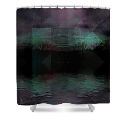 Twilight Zone Shower Curtain by Mimulux patricia no No