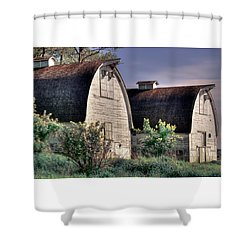 Twin Barns, Nisqually, Wa Shower Curtain