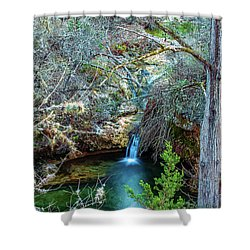 Twin Falls At Peddernales Falls State Park Shower Curtain