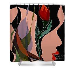 Twin Fire Flower Head 2 Shower Curtain by Navo Art