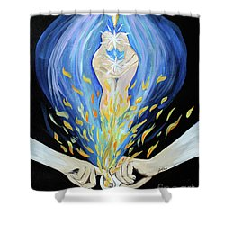 Twin Flame - Alive Shower Curtain