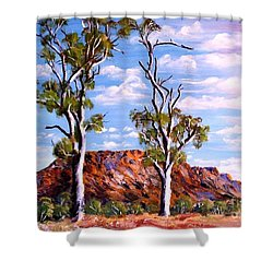 Twin Ghost Gums Of Central Australia Shower Curtain