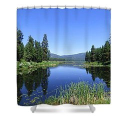 Twin Lakes Reflection Shower Curtain
