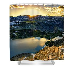 Twin Lakes Sunset Shower Curtain