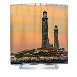 Twin Lights With Morning Glow Shower Curtain
