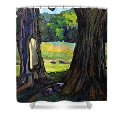Twin Maples Shower Curtain by Phil Chadwick
