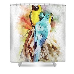 Twin Parrots Shower Curtain