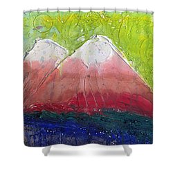 Twin Peaks II Shower Curtain by Phil Strang
