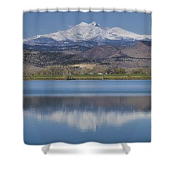 Twin Peaks Mccall Reservoir Reflection Shower Curtain by James BO  Insogna