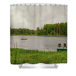 Shower Curtain featuring the photograph Twin Ponds Landscape by David Patterson