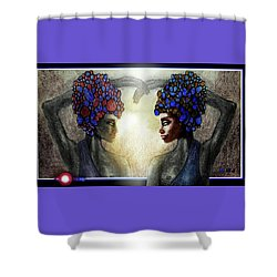 Twin Sisters Shower Curtain by Hartmut Jager