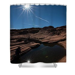 Twin Stars Reflection Shower Curtain