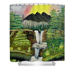 Twin Waterfalls Shower Curtain
