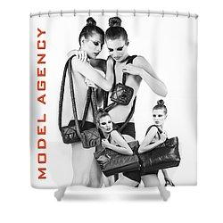 Twins Model Agency Shower Curtain