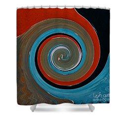 Twirl Red 01 Shower Curtain