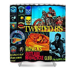 Twisted 8's Shower Curtain by Tony Adamo