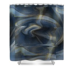 Twisted Blue Plaid Shower Curtain