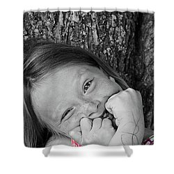 Twisted Expression Shower Curtain by Aimelle