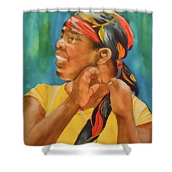 Twisted Sister Shower Curtain by Jean Blackmer