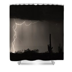 Twisted Storm - Sepia Print Shower Curtain by James BO  Insogna