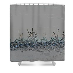 Shower Curtain featuring the digital art Twisted Vines by Ellen Barron O'Reilly