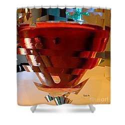 Twisted Wine Glass Shower Curtain