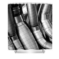 Twisty Tubes Shower Curtain