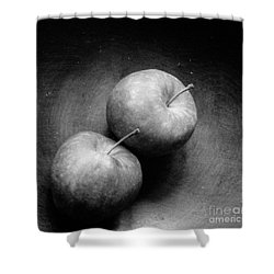 Two Apples In Love Shower Curtain