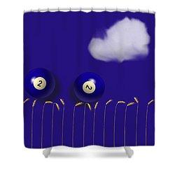 Blue Balls Shower Curtain