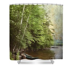 Two Birches Shower Curtain
