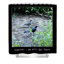 Shower Curtain featuring the photograph Two Birds Pink by Felipe Adan Lerma