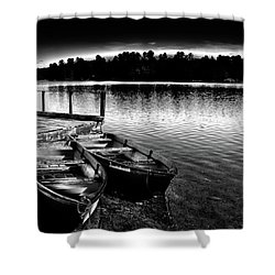 Shower Curtain featuring the photograph Two Boats by David Patterson