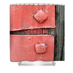 Pink Bolts Shower Curtain