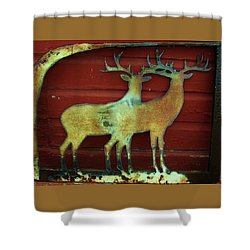 Shower Curtain featuring the photograph Two Bucks 1 by Larry Campbell