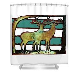Two Bucks 3 Shower Curtain