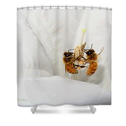 Shower Curtain featuring the photograph Two Busy by Joyce Dickens