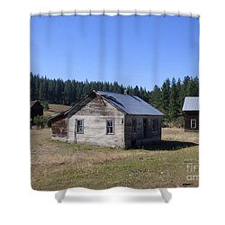 Two Cabins At Fruitland Shower Curtain