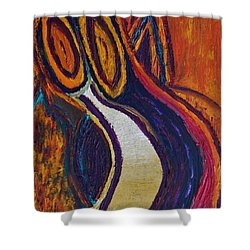 Two Candles Shower Curtain by Vadim Levin