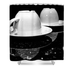 Two Coffee Cups Shower Curtain