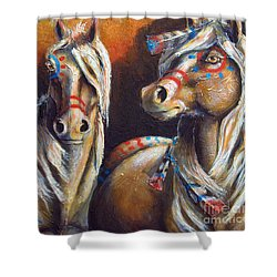 Two Coins Shower Curtain