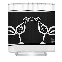 Two Crowing Roosters 2 Shower Curtain